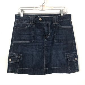 White House Black Market Jean Skirt Size 4